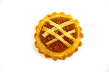 Ansicht von oben Nahaufnahme von einem traditionellen Pinapple Torte Standard-Bild - 11875289