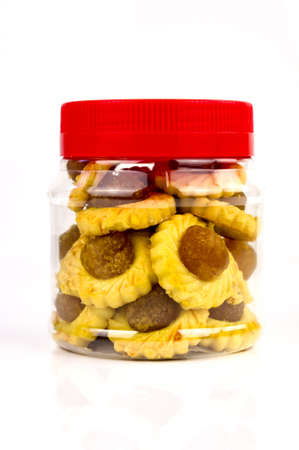 chinese new year food: A container of modern pineapple tarts design