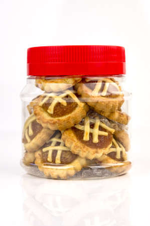 A container of traditional pineapple tart design