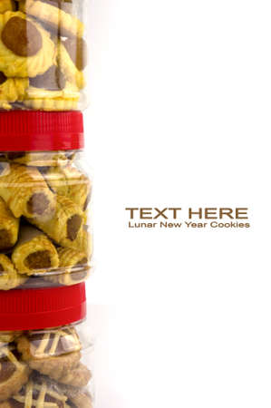 Chinese festive Pineapple tart stack up in containers