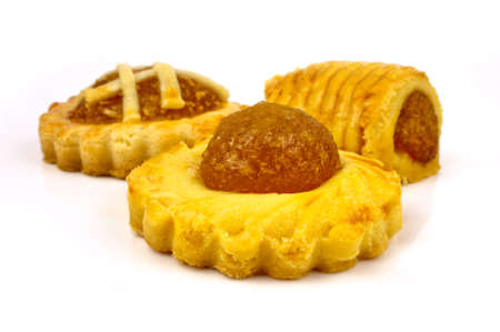 tart: Tradditonal Pineapple tarts with three assorted designs