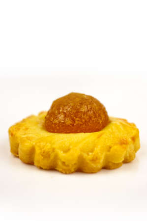 chinese new year food: one shot of a traditional Pineapple Tart