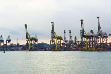 Afternoon Ansicht einer Hafenstadt - Singapur