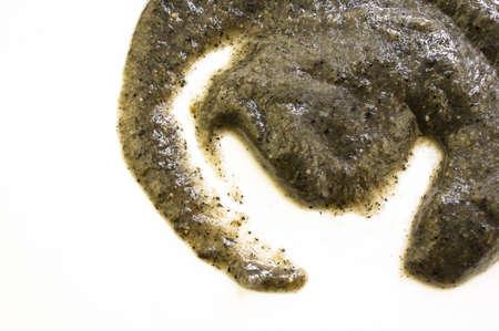 Chinesische schwarzem Sesam Suppe isoliert auf weiß Lizenzfreie Bilder