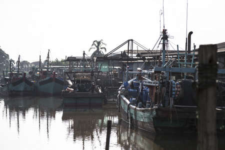 cultural history: Traditional Chinese Fishing Harbour at Sekinchan, Malaysia  Stock Photo