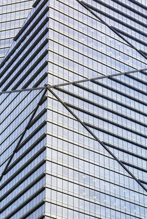 commercial real estate: Close up vertical shot of a office building.