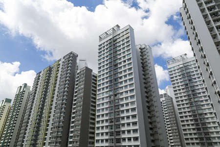 A roll of high rise apartment buildings Stock Photo - 20738106