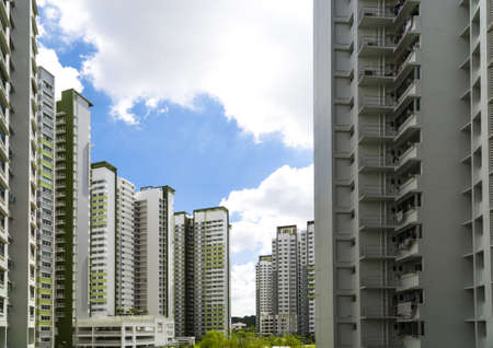 hdb: A new estate with a garden in the center