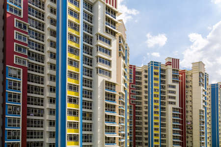 A group of high rise colorful residential apartments  Stock Photo - 20879011