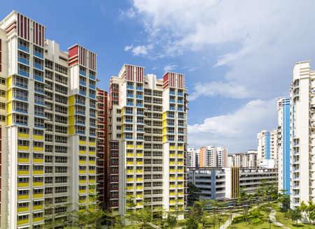A color residential estate with a park and carpark  Stock Photo - 20879022