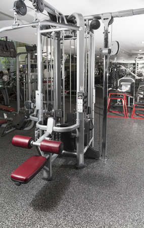 Weight lifting equipments in a club gym  photo