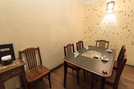 Horizontale Schuss des Innern eines koreanischen Restaurant. Lizenzfreie Bilder