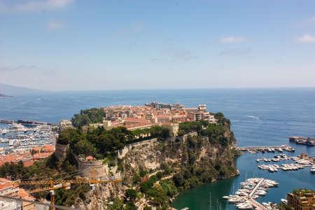 View Monaco neighborhoods. The beautiful Mediterranean Coast. Cote d'Azur.