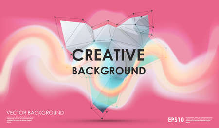 diamond stones: Modern abstract background with paint spot and geometric gemstone. Vector design layout for business presentations, web and app. Illustration