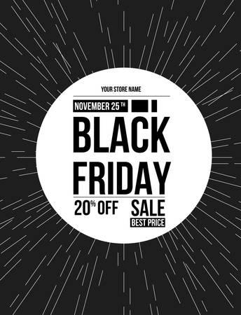 Black Friday sale design template. Illustration