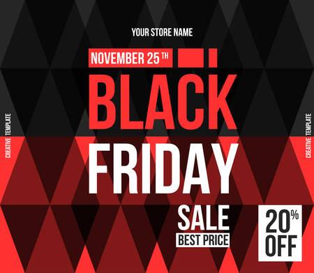 Black Friday sale design template. Stock Vector - 80956865