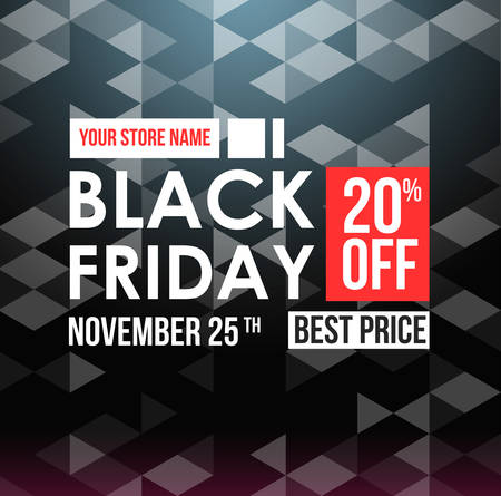 Black Friday sale design template. Stock Vector - 80956867