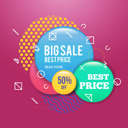 Modern sale badge template for web and print.