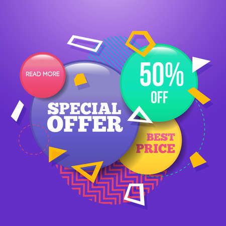 Modern Sale badge and special offer template for web and print.