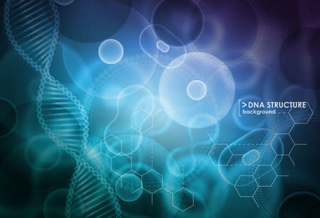 Cell and DNA background. Molecular research.