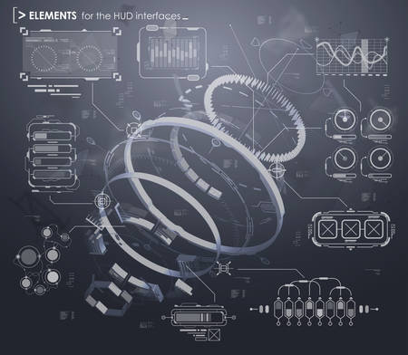 touch screen interface: black and white infographic elements. HUD UI for business app. Futuristic user interface. Abstract virtual graphic touch user interface. UI hud infographic interface screen monitor set web