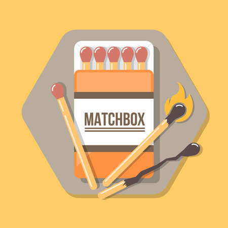 matchbox icon in flat style. Icon for web and print. Illustration