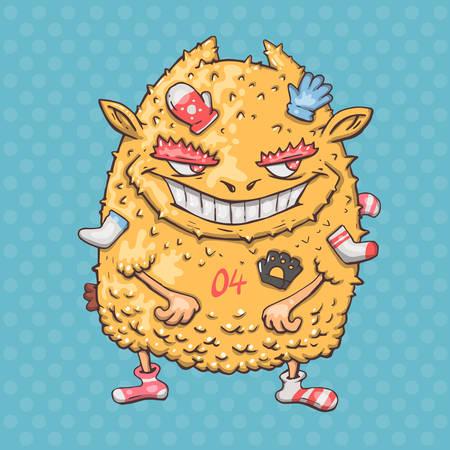 Cartoon monster pilferer. Illustration
