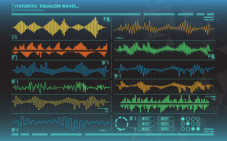 futuristic equalizer waves for the HUD interfaces
