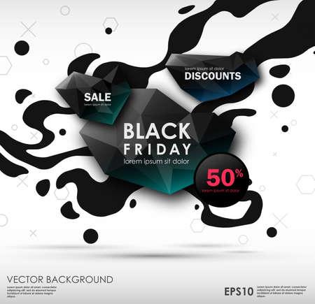 Black friday sale design. conceptual layout