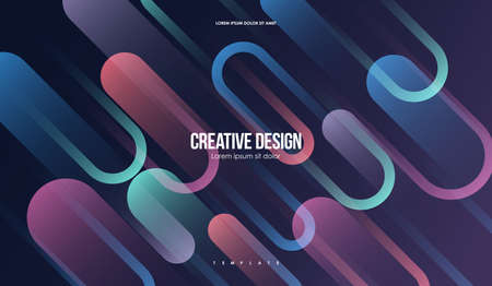 Colorful geometric background. Minimal Abstract Template with Simple shapes. Creative Composition for web and print.