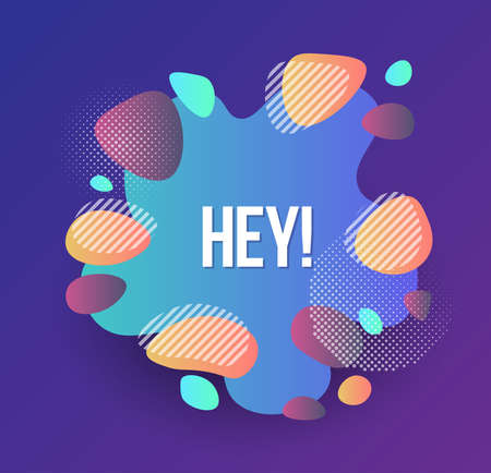 Set of abstract modern graphic elements. Dynamic shapes composition. Gradient colorful shapes. Illustration