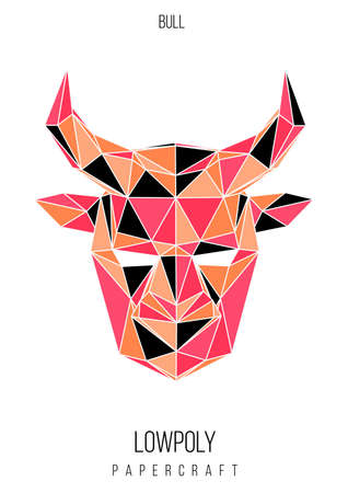 abstract low poly template. Poster with poligonal animal. Layout with modern art elements.