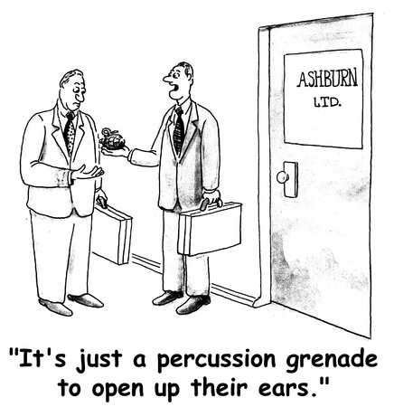 health cartoons: grenade