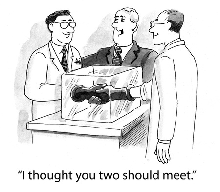 health cartoons: Two meet