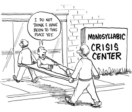 health cartoons: Monosyllabic