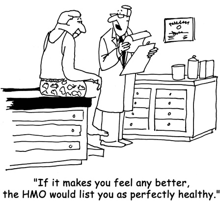 health cartoons: HMO health