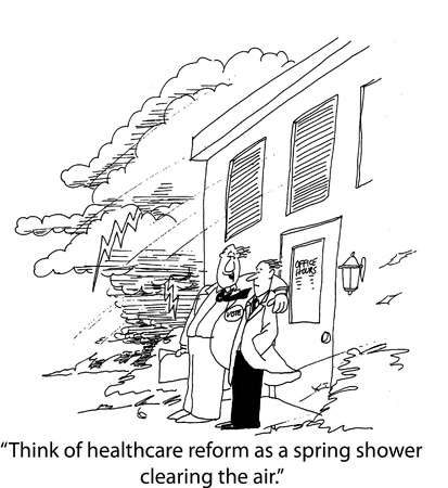 health cartoons: Healthcare shower