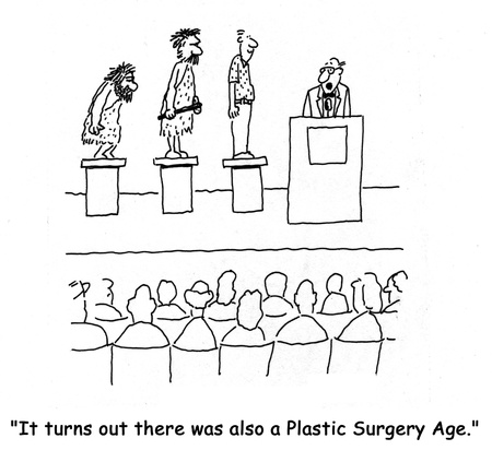 health cartoons: Plastic surgery
