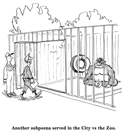 Another subpoena served in the City vs the Zoo photo