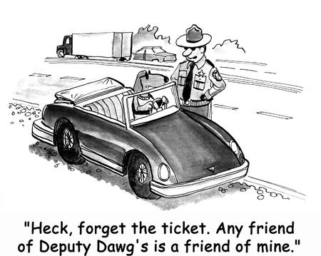 police dog: dog cartoon