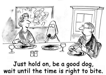 grooming: dog cartoon