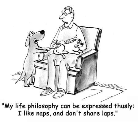 obediencia: perro de la historieta Foto de archivo