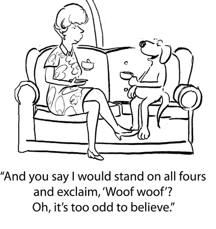 pure breed: dog cartoon