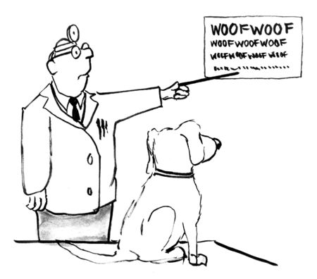dog cartoon Stock Photo - 12541829