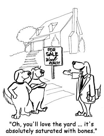 dog cartoon Stock Photo - 12541838