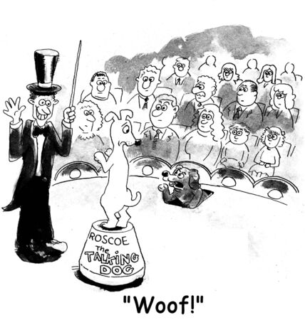 theater audience: dog cartoon