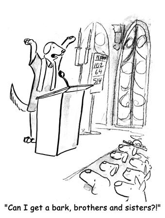predicador: perro de la historieta Foto de archivo
