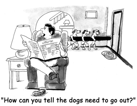 perro caricatura: perro de la historieta Foto de archivo