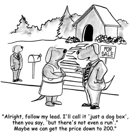 caricaturas de animales: perro de la historieta Foto de archivo