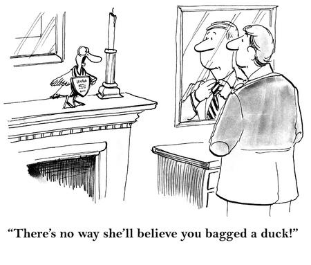 pato caricatura: pato de dibujos animados Foto de archivo